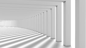 Abstract Modern Background, Columns Hall. White hall with columns illustration Royalty Free Stock Images