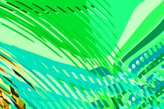 Abstract modern background. Creative colorful forms and shapes. Geometric pattern. Green, yellow and purple bright graphic texture stock illustration