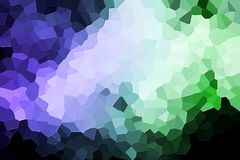 Abstract geometric polygons and triangles. Abstract modern background with  geometric pattern from various  green and blue polygons and triangles Stock Photos