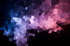 Abstract geometric polygons and triangles. Abstract modern background with  geometric pattern from various  pink and blue polygons and triangles Stock Photo