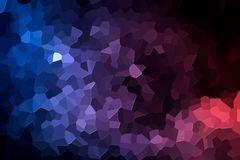 Abstract geometric polygons and triangles. Abstract modern background with  geometric pattern from various  pink and blue polygons and triangles Royalty Free Stock Images