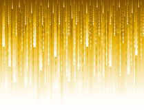 Abstract modern background with golden glittering vertical waves lines. Backgrounds composed of glowing gold lines. Can be used. For scrap booking, wallpaper stock illustration