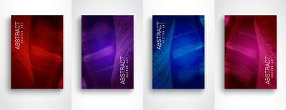 Abstract modern backgrounds. Modern colorful flow set of 4 vector design template. Size A4. vector illustration