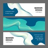 Abstract Modern Banner Achtergrondontwerp Vectormalplaatje stock illustratie