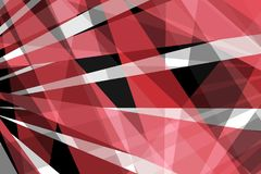 Abstract modern black red and white background design with bold intersecting lines or stripes in dramatic pattern, layers of trans. Abstract artsy modern black Stock Photography