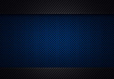 Abstract modern blue black carbon fiber textured material design Royalty Free Stock Images