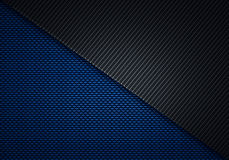 Abstract modern blue black carbon fiber textured material design. For background, wallpaper, graphic design Stock Photos