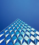 Abstract modern blue building Royalty Free Stock Photography