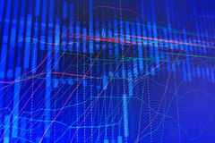 Abstract modern blue IT graph on monitor screen. stock illustration