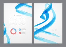 Abstract modern bright blue flyer. Stock Photo