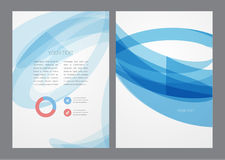 Abstract modern bright blue flyer. Royalty Free Stock Images