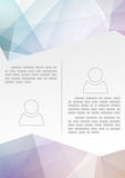 Abstract modern brochure template - crystal Royalty Free Stock Photo