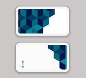 Abstract modern Business-Card Design template Royalty Free Stock Images