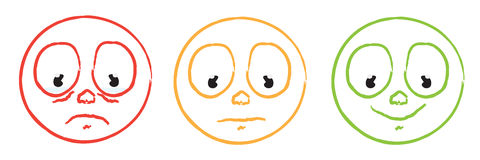color cartoon smiley emoticon face set Stock Photo