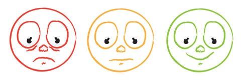 color cartoon smiley emoticon face set Stock Photo