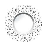 abstract modern business silver dotted background Stock Photo
