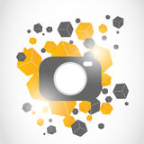 Abstract modern camera design Stock Photos