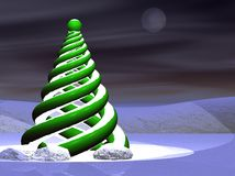 Abstract modern Christmas tree Stock Images
