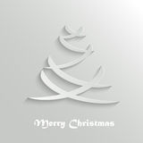 Abstract Modern Christmas Tree Background, Design Template Stock Photography