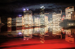Abstract Modern City Background in color Royalty Free Stock Images