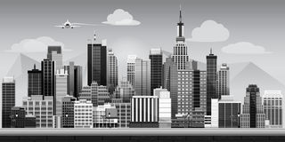 Abstract modern city royalty free illustration