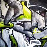 Abstract modern colorful graffiti fragment Royalty Free Stock Image