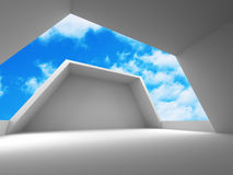 Abstract modern construction architecture background. 3d render illustration Royalty Free Stock Image