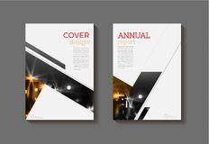 Abstract modern cover book Brochure template, design, annual rep Royalty Free Stock Image