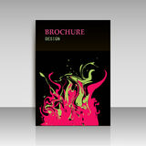 Abstract modern cover, report brochure, flyer design template wi Royalty Free Stock Photo