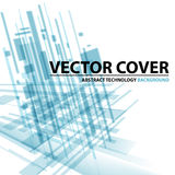 Abstract modern cover with text and heading. Technology or busi Royalty Free Stock Images