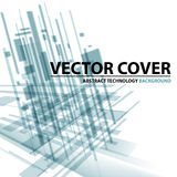 Abstract modern cover with text and heading. Technology or busi Royalty Free Stock Photo
