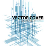 Abstract modern cover with text and heading. Technology or business Royalty Free Stock Photos