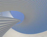 Abstract modern curves design. Architectural artistic wallpaper Royalty Free Stock Images