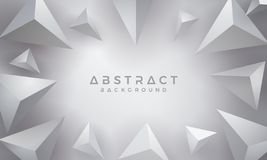 Abstract, Modern, 3D Triangle Gray Background. Eps10 vector background royalty free illustration