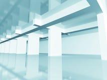 Abstract Modern Design Architecture Background. 3d Render Illustration vector illustration