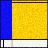 Mondrian Inspired Digital Painting 04 Royalty Free Stock Images
