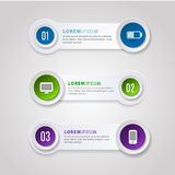 Abstract Modern digital template vector banner infographics. royalty free illustration