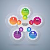 Abstract Modern digital template vector  banner infographics. Circle  Modern digital template vector  banner infographics Royalty Free Stock Images