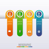 Abstract Modern digital template vector  banner infographics. Royalty Free Stock Photography