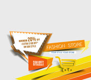 Abstract Modern Discount Banner Royalty Free Stock Image