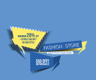 Abstract Modern Discount Banner Royalty Free Stock Photography