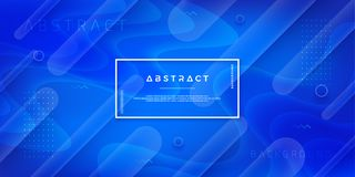 Abstract, modern, dynamic, trendy blue background for posters, placards, banners, web pages, headers, and other. Abstract, modern, dynamic, trendy blue royalty free illustration
