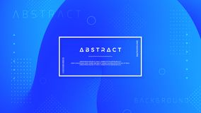 Abstract, modern, dynamic, trendy blue background for posters, banners, web pages, headers, and other stock illustration