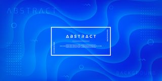 Abstract, modern, dynamic, trendy blue background for posters, banners, web pages, headers, and other. Eps10 vector illustration royalty free illustration