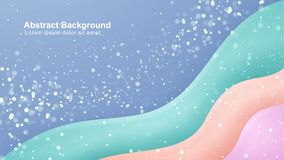 Blue, green, orange, pink trendy gradient background. Eps10 vector illustration.  stock illustration