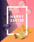 Abstract Modern Easter Design. An abstract Easter Design with 3D effects and room for promotion / holiday messages.Vector illustration Stock Photo