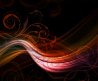 Abstract modern floral background Royalty Free Stock Photos