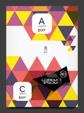 Abstract modern flyer - brochure template Stock Photography