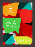 Abstract modern flyer - brochure template Stock Images
