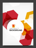 Abstract modern flyer - brochure template Stock Photos